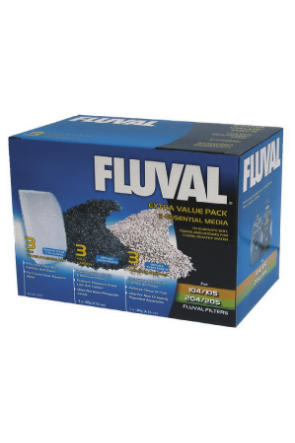 Fluval Extra Value Media Pack for Fluval 105/205 Filters A1442