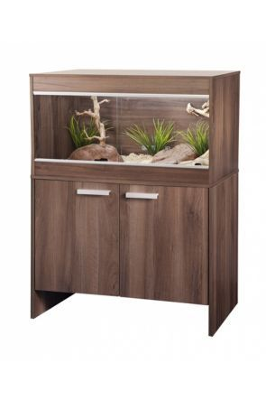 VIVEXOTIC REPTIHOME VIVARIUM & CABINET MAXI MEDIUM - WALNUT (PT4085 / PT4039)