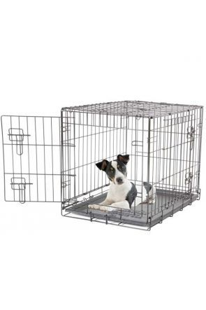 Dogit - 2 Door Black Wire Home Dog Crate - Small (90581)