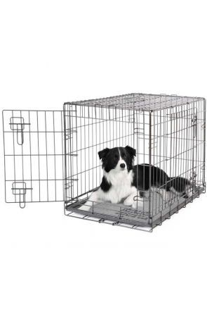 Dogit - 2 Door Black Wire Home Dog Crate - Medium (90582)