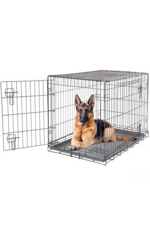 Dogit - 2 Door Black Wire Home Dog Crate - extra large (90584)