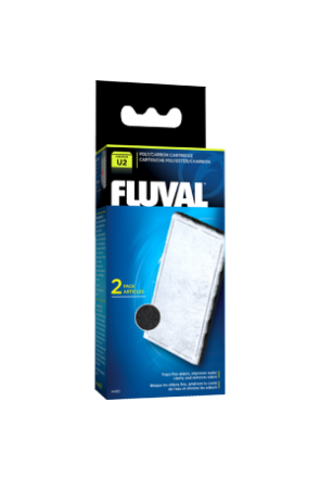 Fluval U2 Filter Poly/Carbon Cartridge - 2 per pack A490