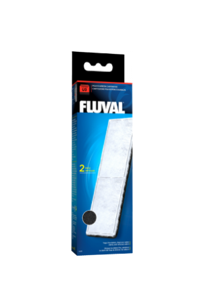 Fluval U3 Filter Poly/Carbon Cartridge - 2 per pack A491