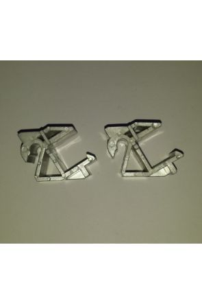 Aqua One Silver Hinge Set for 320 / 500 / 340 & AquaMode (pn 11061sv)