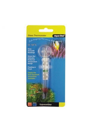 Aqua One Glass Aquarium Thermometer