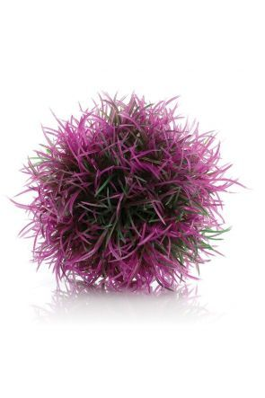 Easy to use plastic plants in a ball shape. Place on the floor of the aquarium to provide colour and interest or build up several balls with or without plants to create interesting displays.   Single balls available in red, orange or purple.   Suitable fo