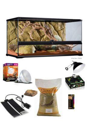 Glass Vivarium & Kit for Bearded Dragons (90 x 45 x 30cm)