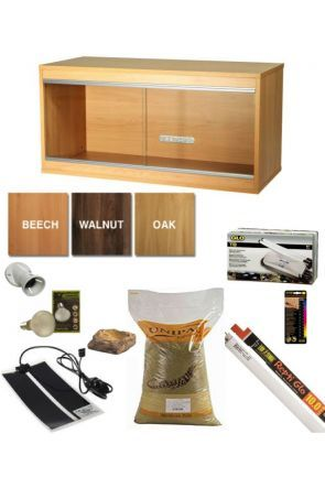 Wooden Vivarium & Kit for Bearded Dragons (Large)