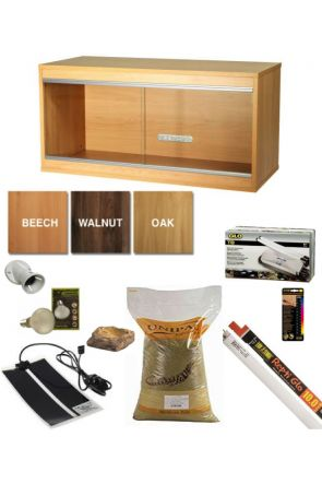 Wooden Vivarium & Kit for Bearded Dragons (Medium)