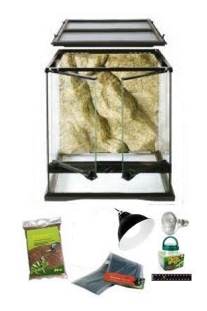 60cm x 45cm x 60cm Glass Vivarium & Kit for Chameleons