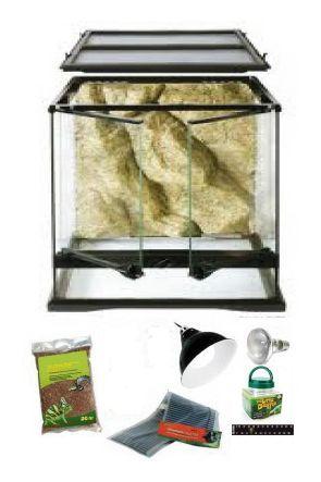 45cm x 45cm x 60cm Glass Vivarium & Kit for Chameleons