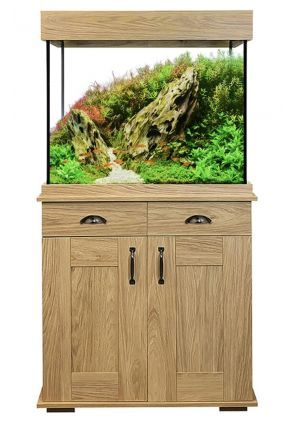 Fluval Shaker 168L Aquarium and Cabinet - Hampshire Oak