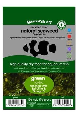 Gamma Dried Natural Seaweed (Green) 12g