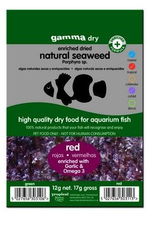 Gamma Dried Natural Seaweed (Red) 12g
