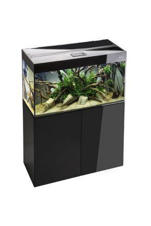 Aquael Glossy 120 Aquarium and Cabinet Set - High Gloss Black  (260 litres)
