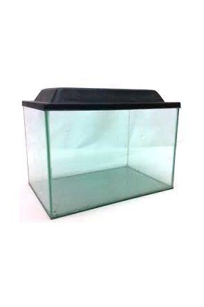 "Glass Aquarium 16"" x 8"" x 8"" (with black lid)"