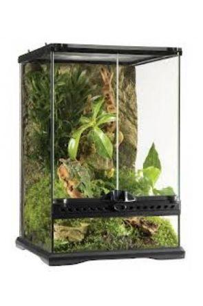Exo Terra Glass Terrarium Nano/Tall- 20cm x 20cm x 30cm (PT2601)