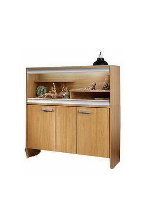 Vivexotic Bearded Dragon Vivarium & Kit with Cabinet - Oak (PT4033 / PT4041)