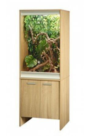 Vivexotic Viva+ Chameleon Vivarium & Cabinet – Oak (PT4115 / PT4035)