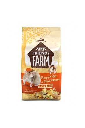 Supreme Tiny Friends Farm - Reggie Rat & Mimi Mouse Tasty Mix - 850g