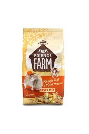 Supreme Tiny Friends Farm - Reggie Rat & Mimi Mouse Tasty Mix - 850g