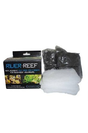 Interpet River Reef 48 - Felt Pads x4 & Carbon Bags x2