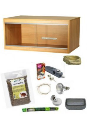 Wooden Vivarium & Kit for Tortoises (Large)