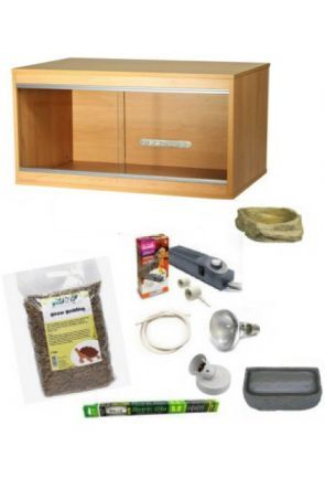 Wooden Vivarium & Kit for Tortoises (Medium)