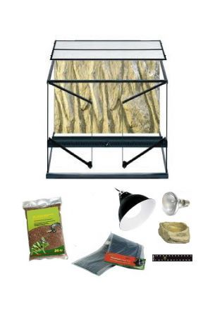 60cm x 45cm x 90cm Glass Water Dragon Vivarium & Kit